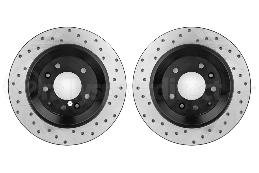 Stoptech Drilled Rear Rotor Pair (Part Number:128.45074-GRP)