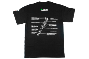 Tein Coilover Diagram T-Shirt Black - Universal