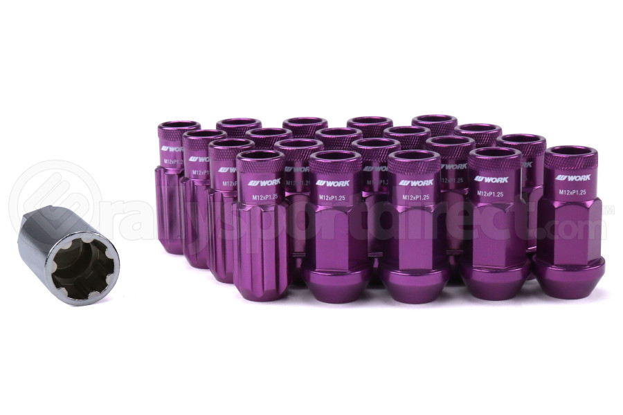Work Wheels RS-R Open Ended Lug Nuts M12x1.25 Purple - Universal