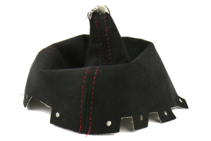 AutoStyled Black Alcantara Shift Boot w/ Red Stitching Short Shifter ( Part Number: 1304060101)
