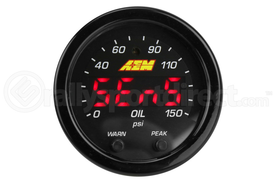 AEM X-Series Oil Pressure Gauge 0-150psi 52mm (Part Number:30-0307)