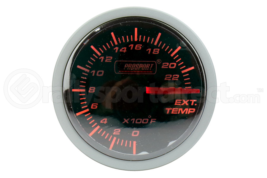 ProSport Exhaust Gas Temperature Gauge w/ Probe 52mm Amber/White (Part Number:216BFWAEGTSM.F)