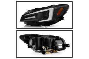 Spyder Apex LED Headlights for Halogen Fitted Vehicles Black - Subaru WRX / STI 2015-2020