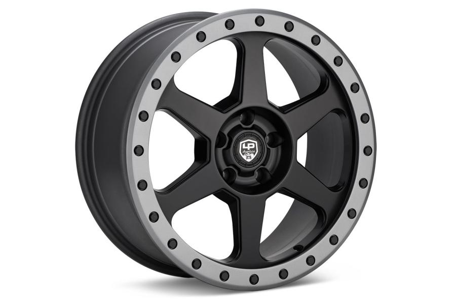 LP Aventure LP3 Wheel 17X8 +20 5x114.3 Black w/ Grey Ring - Universal
