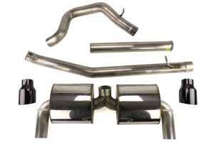 AWE Touring Edition Cat Back Exhaust Diamond Black Tips - Ford Focus RS 2016+