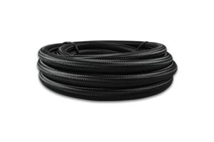 Vibrant Performance Nylon Braided Flex Hose -6AN Black - Universal