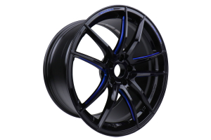 WedsSport RN-55M 19x10 +40 5x112 Black Blue Machine - Universal