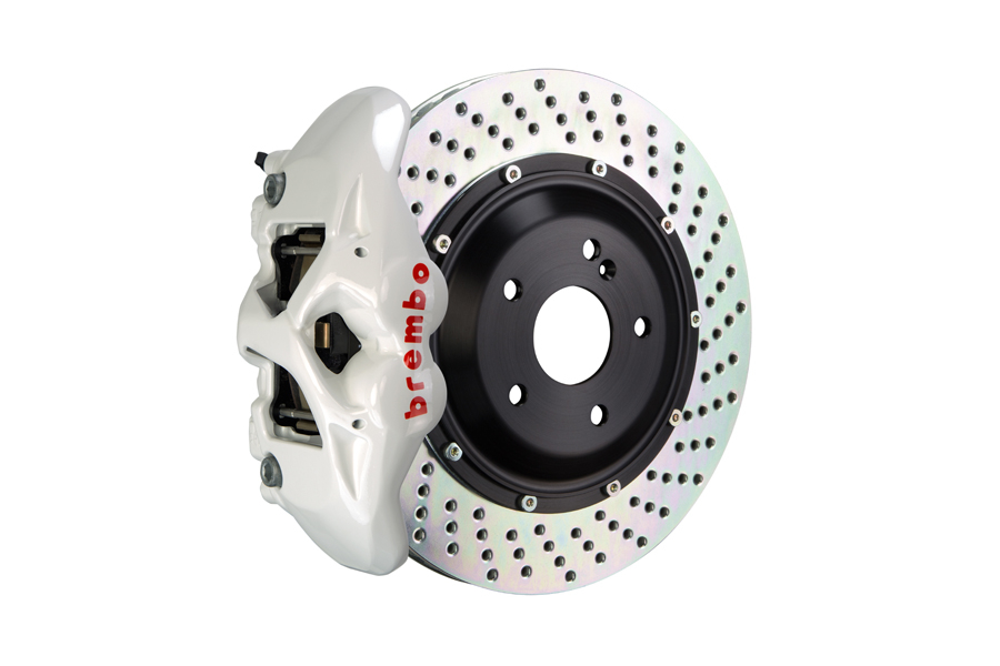 Brembo GT Systems Monobloc 4 Piston 345mm Cross Drilled White - Honda Civic Type R/SI 2017+