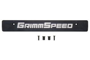 GrimmSpeed License Plate Delete Black/Silver - Subaru WRX/STI 2015+