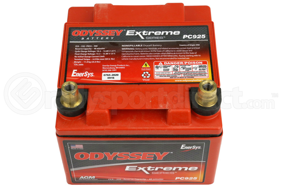 Odyssey Extreme Series 12v Battery w/ Metal Jacket ( Part Number:ODY PC925MJT)