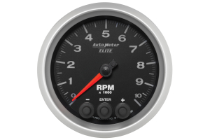 Autometer Elite In-Dash Tachometer Gauge 7 Color 3-3/8in - Universal