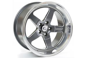 Cosmis Racing Wheels XT-005R 18x9 +25 5x100 Gunmetal w/ Machined Lip - Universal