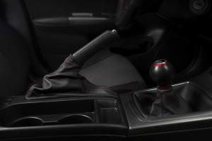 AutoStyled Black Leather E-Brake Boot w/ Red Stitching - Subaru STI 2008-2014 / Subaru WRX 2009-2014