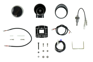 ProSport Oil Temperature Electronic Gauge w/ Sender Amber/White Metric 52mm - Universal