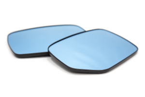 OLM Wide Angle Convex Mirrors w/ Defrosters Blue (Part Number: )