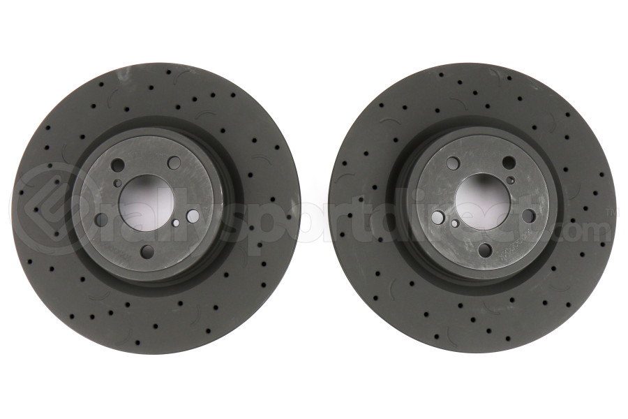 Hawk Talon Cross Drilled and Slotted Front Rotor Pair - Subaru Legacy GT 2005-2012