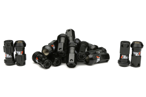 KICS R40 Iconix Locking Lug Nuts Black M12X1.25 ( Part Number:KIC WRIF13KK)