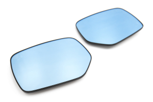 OLM Wide Angle Convex Mirrors w/ Turn Signals / Defrosters / Blind Spot Detection Blue (Part Number: )
