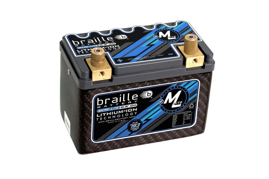Braille MicroLite ML9C Lithium Battery - Universal
