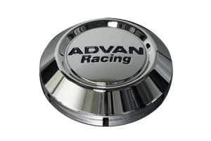 Advan Racing Low Center Cap 73mm Chrome - Universal