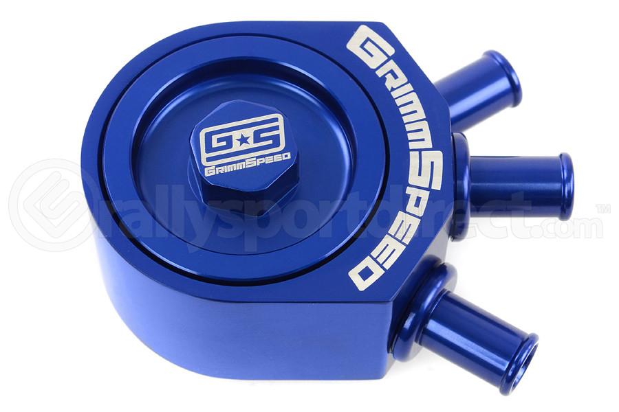 GrimmSpeed Air Oil Separator Blue ( Part Number:GRM 078006B)