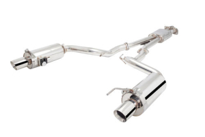 X-Force Stainless Steel Cat-Back Exhaust w/ Varex Oval Tipped Mufflers - Ford Mustang 2015-2017