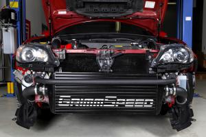 Grimmspeed Front Mount Intercooler Kit Black Core w/ Black Piping - Subaru STI 2008-2014