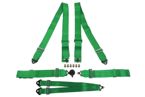 NRG Innovations 6 Point 3 Inch Harness Cam Lock Green - Universal