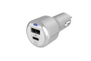 Scosche PowerVolt USB-C / USB-A Fast Charger Silver - Universal