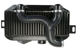 Process West Top Mount Intercooler w/Shroud Kit Black - Subaru WRX 2002-2003