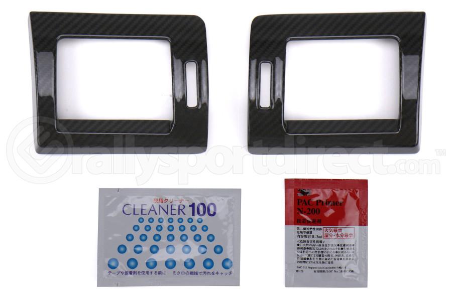 OLM LE Dry Carbon Fiber AC Trim Covers - Subaru Models (inc. 2015+ WRX / 2014+ Forester)