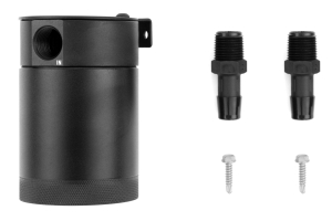 Mishimoto Compact 2-Port Baffled Oil Catch Can Black ( Part Number: MMBCC-MSTWO-BK)