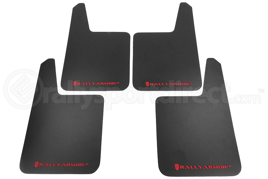 Rally Armor Basic Plus Red Logo Universal Mud Flaps ( Part Number:RAL MF20-BAS-RD)