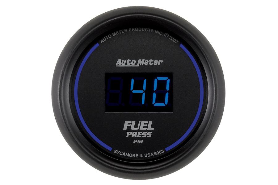 Autometer Cobalt Fuel Pressure Gauge Digital Blue LED 52mm - Universal