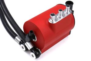 IAG Performance V3  Competition Series Air / Oil Separator Red - Subaru Models (inc. 2004-2007 STI / 2006-2007 WRX)
