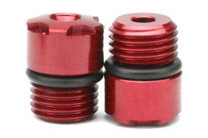 KICS R40 Iconix Aluminum Caps Red M12X1.25 (Part Number: )