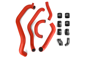 PERRIN Boost Tube Kit Red Piping Black Couplers - Subaru WRX/STI 2002-2007