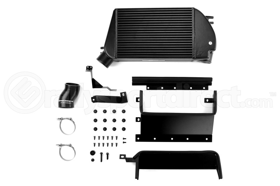 Mishimoto Black Top Mount Intercooler w/ Polished Charge Pipe ( Part Number:MIS MMTMIC-WRX-15PBK)