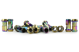 KICS R40 16+4 Piece Neo Chrome 12x1.50 Lug Nuts (Part Number: )