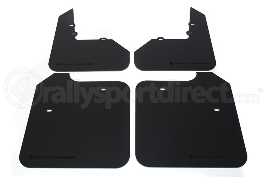 Rally Armor Classic Mud Flap Black Logo (Part Number:MF3-BLK)