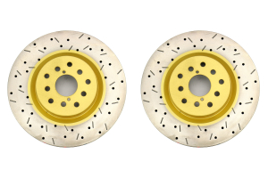 DBA 4000 Series Drilled/Slotted Front Rotor Pair (Part Number: )