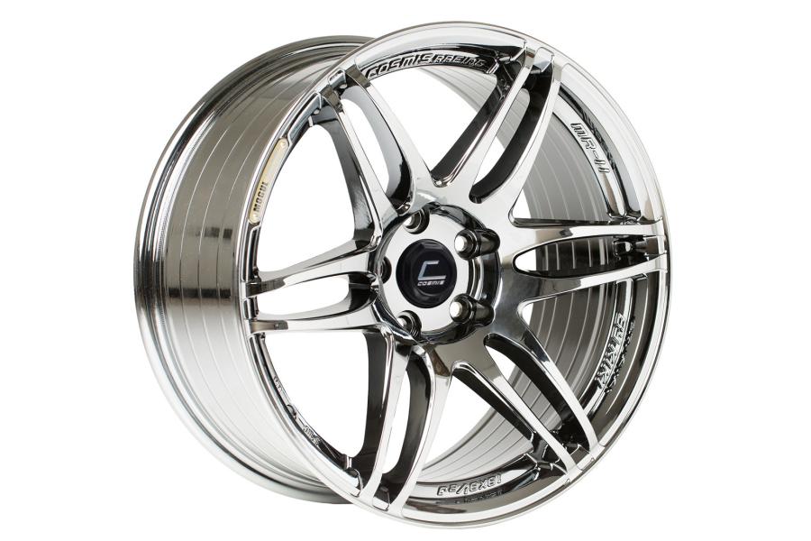 Cosmis Racing Wheels MRII 18x9.5 +15 5x114.3 Black Chrome - Universal