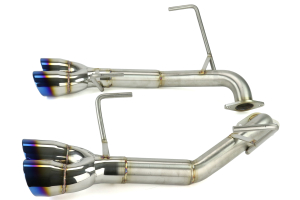 Nameless Performance 3in Tips Axleback Double Wall Neochrome/Titanium Tips (Part Number: )