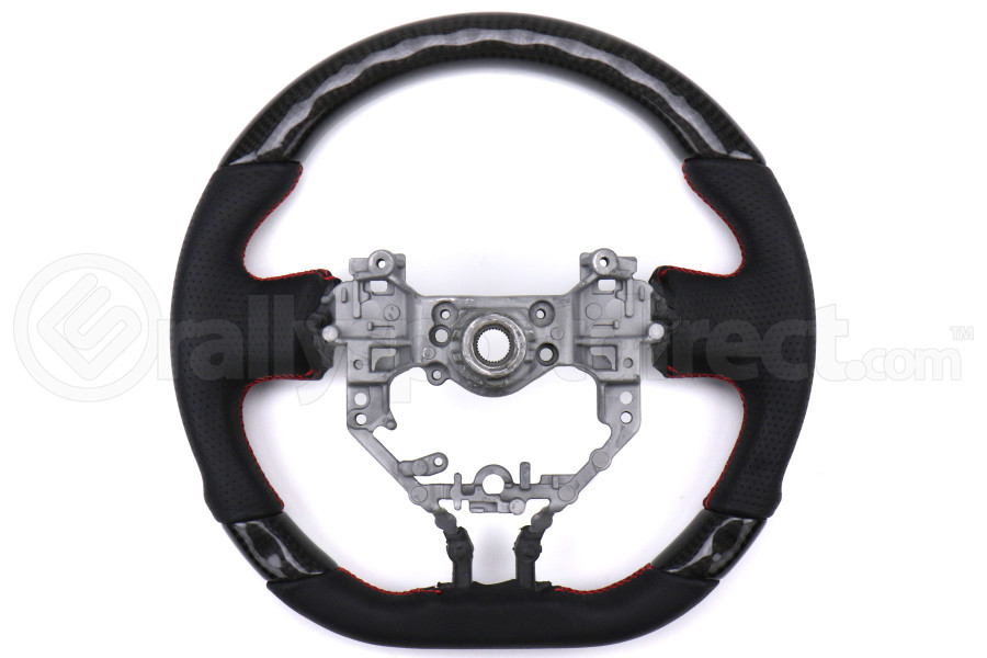 OLM OEM Fit Leather / Carbon Fiber Steering Wheel - Scion FR-S 2013-2016 / Subaru BRZ 2013-2016