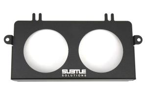 Subtle Solutions Dual 60mm Ashtray Gauge Bezel Black - Subaru Models (inc. 2005-2007 WRX/STi)
