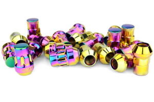 Muteki SR35 16+4 Closed Ended Neo Chrome Lug Nuts 35mm 12x1.50 (Part Number: )