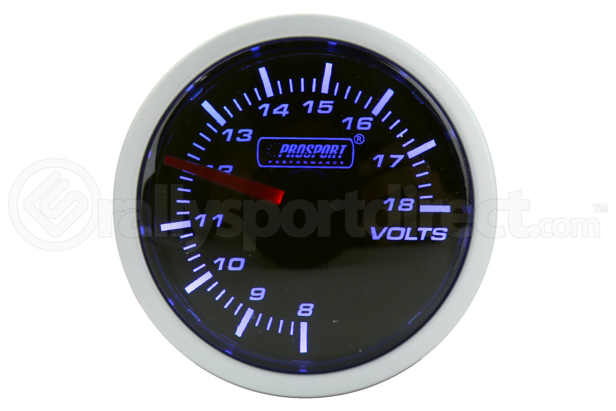 ProSport Voltmeter Gauge Electrical 52mm Blue/White - Universal