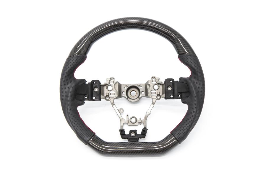 OLM Carbon Pro Leather Steering Wheel - Subaru WRX / STI 2015+