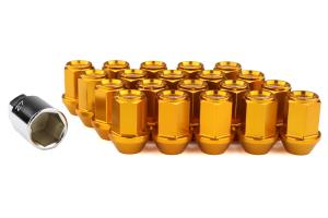 KICS Leggdura Racing Lug Nuts Yellow Gold M12X1.25 - Universal