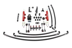 IAG PTFE Flex Fuel System Kit w/ Injectors, Lines, FPR, Fuel Rails - Subaru STI 2008 - 2020
